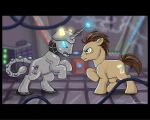 Whooves vs. The Dalek by ChaosKirin