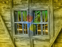 The old window by outlines
