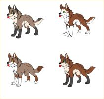 Linna and Tex Pups by MichelsAdoptions