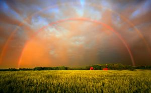 Golden Rainbow Sunset by VFrance
