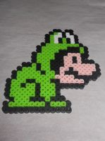 Mario Frog Suit Sprite Perler by Perler-Pop