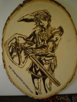 Twilight Princess Woodburning by DragonGirl6420