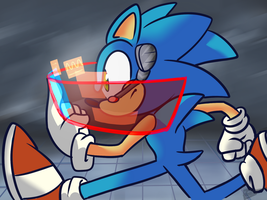 Sonic Running by halfway-to-insanity