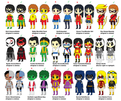 DC Comics Costumes vs DC Anime Costumes by CamiloSama