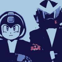 Sons of Dr.Thomas Light Proto Man and Mega Man by TheGreatDevin