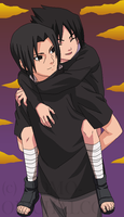 Sasuke and Itachi 2 by DomoOrichalcos