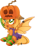 Request: OC Pumpkin Mistake by SkunkDJ