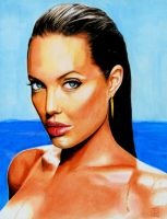 ANGELINA JOLIE painting by tomjogi