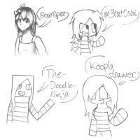 Different artists different styles by Gameaddict1234