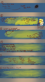 HOW TO: draw a starry night sky in 6 steps! by xecel
