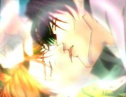 Dee and Ryo Anime Kiss by gothic-lolita-mana