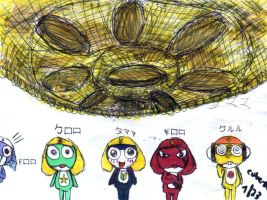 Keroro Platoon Doodle by Rubber-Band-Of-Doom