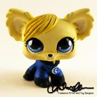 Invisible Woman custom Littlest Pet Shop by thatg33kgirl