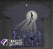 Dzine Clothing Zombie Rok God by DzineClothing
