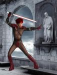 Sith Mistress On Guard by Conmael