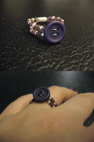 Purple Button Ring by sampdesigns