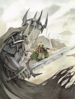 Eowyn and the Witch King by Lamorien