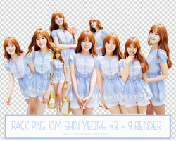 PACK PNG KIM SHIN YEONG #3 ~ 9 RENDER by CeByun688