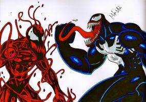 Venom and Carnage by MikeES