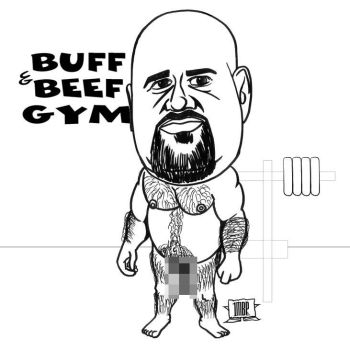 Beefy Guy Caricature by UrSoMaC
