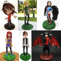 2011 Commission Compilation- Anime figures by Tsurera