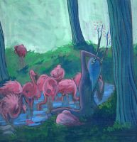 Flamingos and Faerie by RachelCurtis