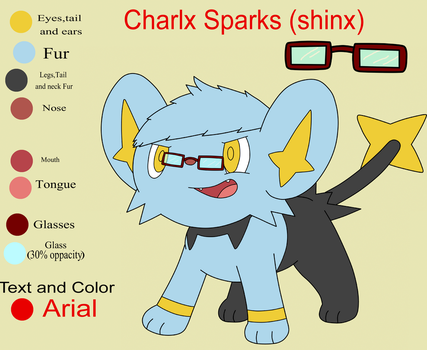 Charlx sparks (Shinx) Ref by Charly-sparks