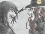 Alucard and D Scary Faces by Remthedeathgoddess