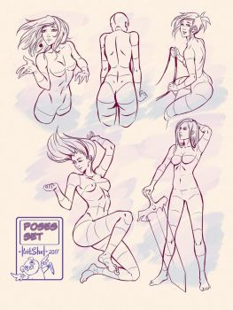 Poses Set1 by KritShel