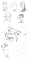 MAJOR SKETCH DUMP OH NOES by ninja-doodler