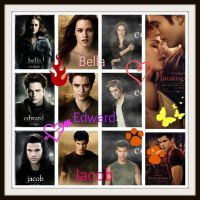 Bella Edward and Jacob by Pink-star-15