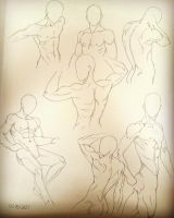 Male Anatomy Poses by KoalaTheArtist