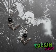 BAT EARRINGS by TocsinDesigns