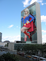 S means hope - Giantess Supergirl by zboczony