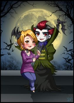 Bats and Vampires by Berylunee