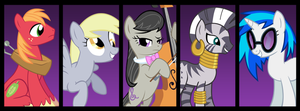 MLP Side Characters Facebook Banner by NeonSenpai