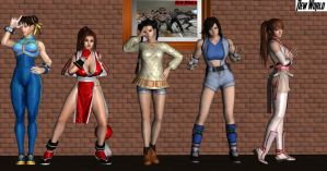 Fighting Game Babes by lonelygoer