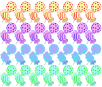Repeating Candy Pattern by inthedesertwithgirls