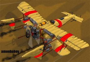steampunk x wing version 2 by amoebabloke
