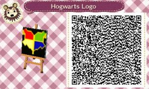 Animal Crossing QR Code: Hogwarts Logo by winxJenny