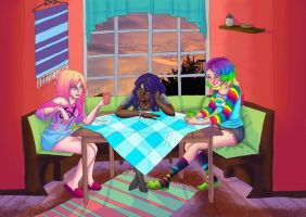 Breakfast with the Goddesses by Icemaya