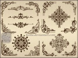 Ornaments design elements color LZ 32 by Lyotta