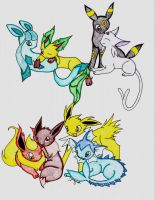 Eeveelutions by cameragirl123