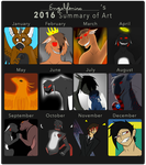 2016 summary of art by Engelfenix
