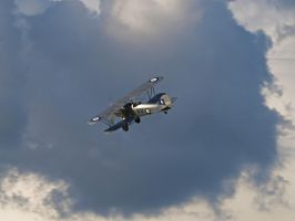 Hawker Hind into the big sky. by davepphotographer