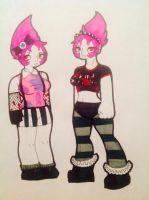 Demonica's outfits by evil-vivianne