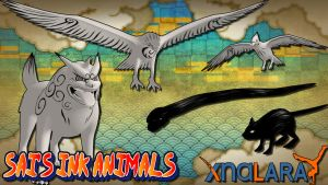 Naruto UNS3 - Sai's Ink Animals Pack by MVegeta