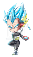Vegeta in Blue by Sabnock