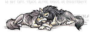 Sleeping Wolves Color Tattoo by WildSpiritWolf