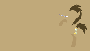 Doctor Whooves Minimalistic Wallpaper by Kitana-Coldfire
